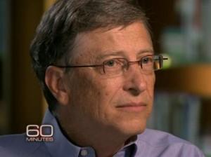 Ações da Microsoft, empresa fundada por Bill Gates, valorizaram muito no último ano Foto: CBS / Reprodução